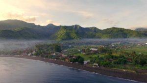 bali drone footage Amed beach northen Bali